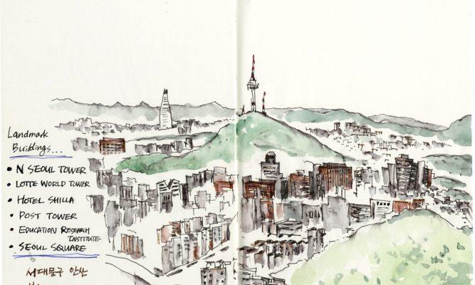 빌딩 숲, 가을 – 서울 도심 전경 01