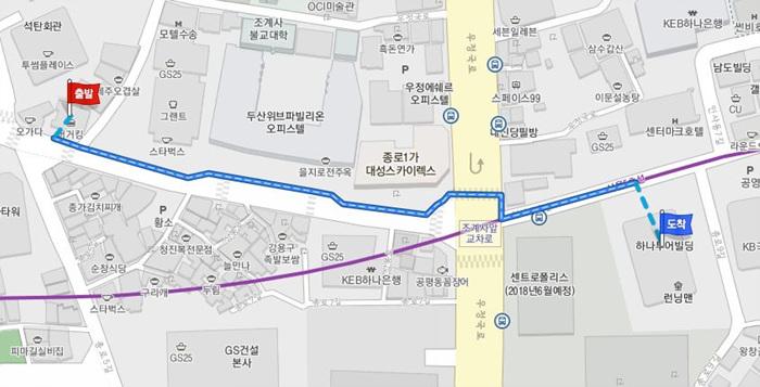 하나투어 지도
