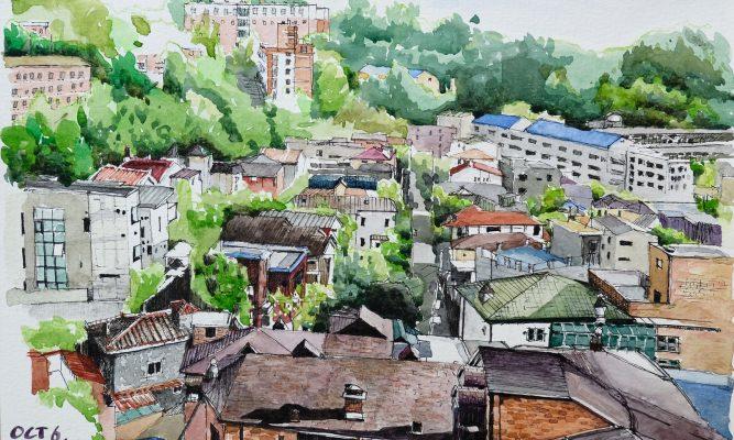 짙은 가을 주택가 – 연희동 04